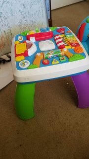 Fisher price smart stages sit and stand play table $5