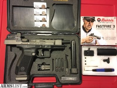 For Sale/Trade: Canik TP9SFX 9mm W/Burris FF3