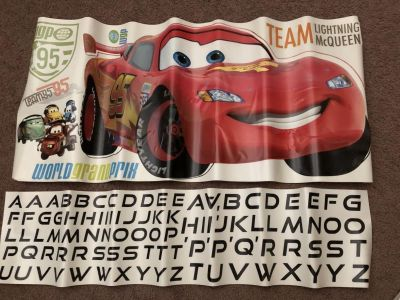 Lightning McQueen wall decals (removable)