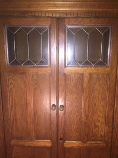 Solid oak cabinet/desk