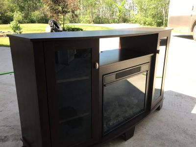 Fire place with tv stand