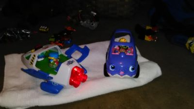 Little people car and jet.