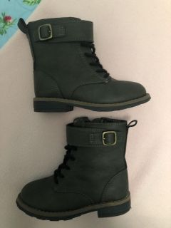 Carters Army Green Fall Boots LIKE NEW size 8 toddler