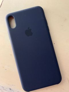 iPhone XS Max Apple Silicone Case Blue