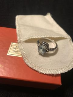 James Avery Ariana Ring with blue topaz