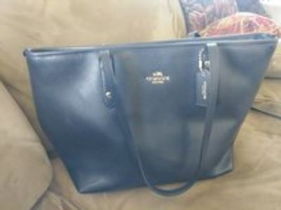 Coach Navy tote