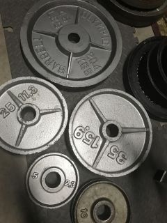 250lb olympic weight set- #1