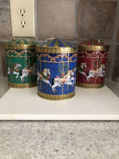 3 MUSICAL CANDY /COOKIE TINS