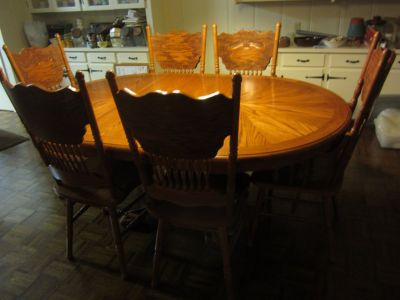Table and Six Chairs