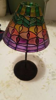 Stainglass candle holder