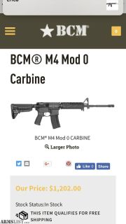 For Sale/Trade: BCM M4