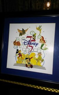 Disney 75 Years Collectible framed pin collection