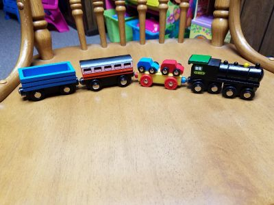 Wooden magnetic train