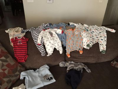 NEWBORN BABY BOY CLOTHES! Most worn only once.