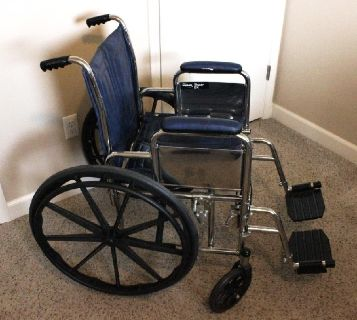 Wheelchair with Removable Arm and Foot Rests