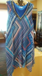 Summer dress super cute and comfy size 22 but will fit XL or 1X $5