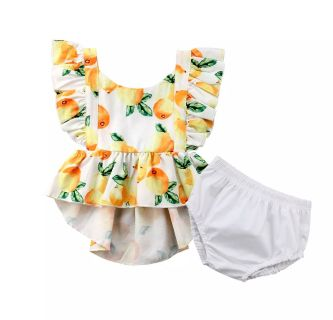 NWT Lemons Outfit, Size 70 (0-6M)