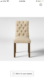 6 Threshold Brookline Tufted Dining Chairs