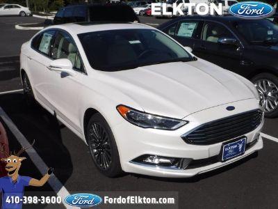 2018 Ford Fusion Titanium (White Platinum Metallic Tri-Coat)