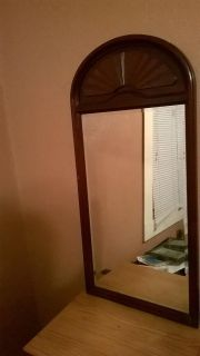 $15, Solid Cherry Wood Beveled Mirror