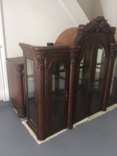 MOVING Reduced FSBO! Hutch/Buffet 2 piece Display CHINA CABINET,detailed craftsmanship