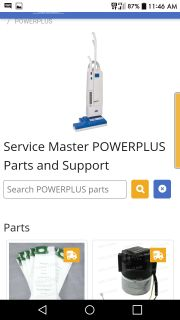 SME Power Plus Vacuum / SMP 14 (BY SERVICE MASTER COMMERCIAL CARPET CLEANERS)