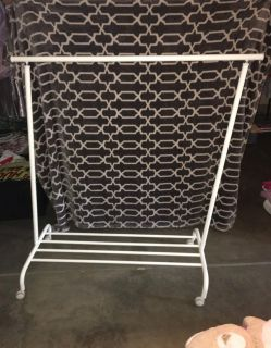Clothes rack I have 4 available $5 each