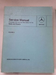 Find MERCEDES BENZ information Cars Starting 1968 Series 114 115 Body Chassis - Vol 2 motorcycle in Rockfall, Connecticut, United States, for US $27.50