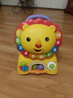 Fisher Price three in one sit stride and ride music and lights work comes with three balls excellent Christmas gift