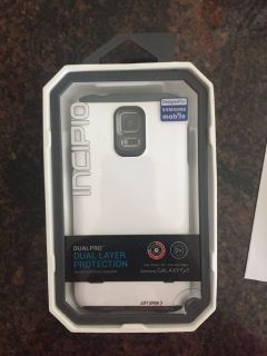 NEW Incipio Dualpro For Gs5 Gray/white case