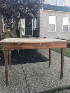 Old rustic farm house table