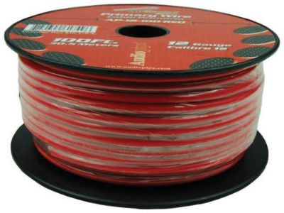 Sell 12 Gauge 100ft Primary Wire Red Audiopipe Ap12100rd Wire motorcycle in Hicksville, Ohio, United States, for US $20.05