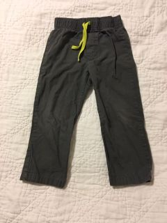 Carters elastic waist pants grey 3T