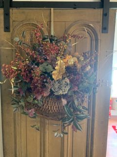 Large basket wreath