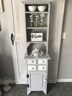 Solid Wood Refinished Hutch/Cabinet