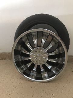 Set of 4 22 Chrome rims