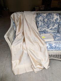 Pottery Barn lined silk curtains