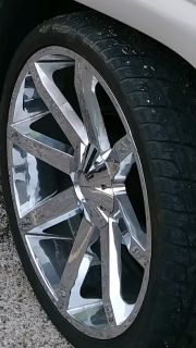 "Used set of 6 lug 26"" KMC rims with 5 tires"