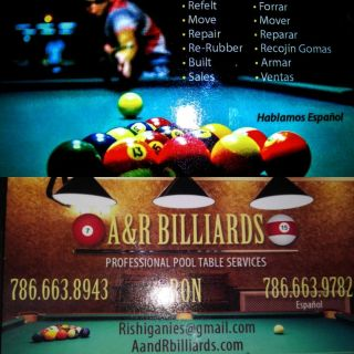 Pool tables service