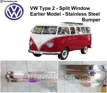 VW Split Window PRESSED Stainless Steel Bumper