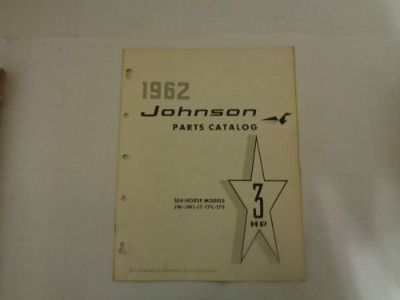 Sell 1962 JOHNSON PARTS CATALOG 3 HP MOTORS @@@CHECK THIS OUT@@@ motorcycle in Atlanta, Georgia, United States, for US $14.99