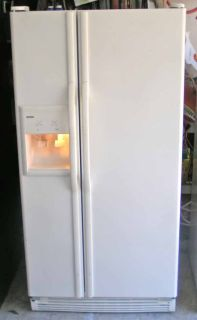Refrigerator- Side By Side-Water and ice in door-White-Whirlpool
