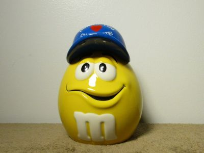 "Mars M&M's Galerie ""Honk If You Love Chocolate"" Ceramic Candy Container 7"" Tall"