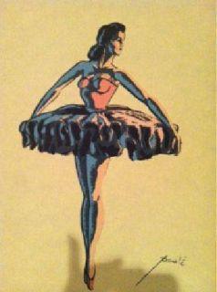 $4,500 vintage matching paule' ballet silkscreen prints