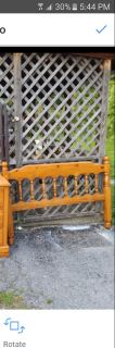 Wood full size headboard and bed frame excellent condition must pick up