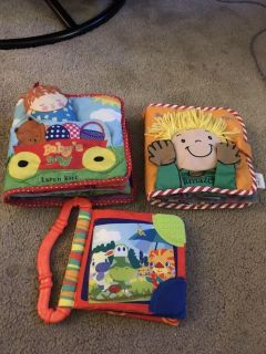 3 Fabric Baby/Toddler Books