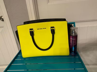 Neon Yellow Authentic Michael Kors Selma Purse
