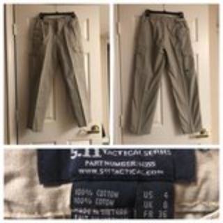 Womens Khaki 5-11 Tactical Pant Size 4