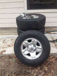 4 Tires and Rims from a Ford Expedition