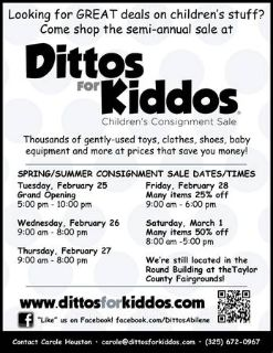 Dittos for kiddos (Taylor County Fairgrounds)